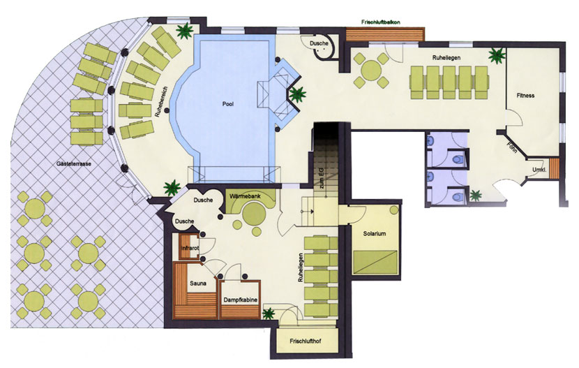 Day Spa Design Floor Plan